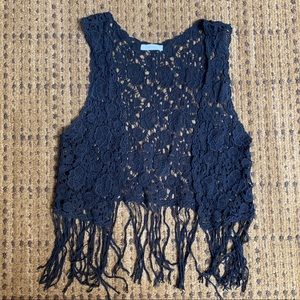 Crochet Vest with Tassles